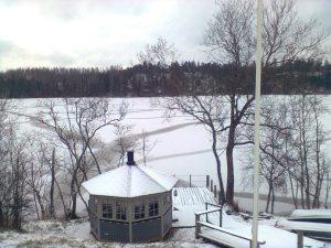 Kirkkojärvi jäätyi 5.11.2016